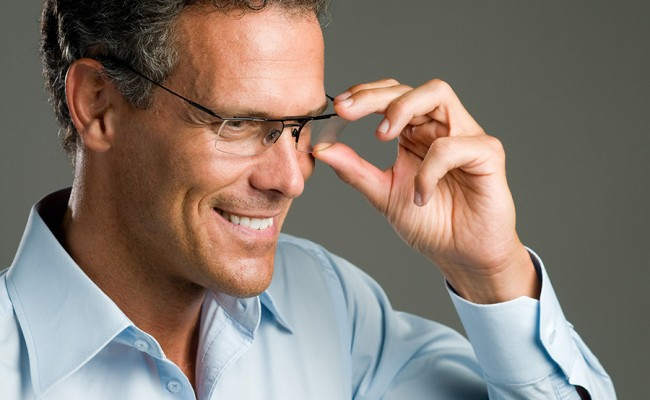 Man with glasses